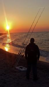 Abendstimmung Brandungsangeln Ostsee